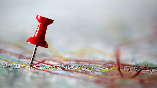 Map pin - Flickr CC - Mark Justinecorea
